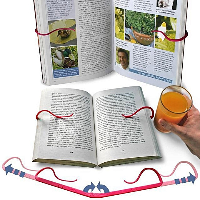 UNIVERSAL Creative Hands Free Book Page Holder Adjustable Bookmark for Reading Portable & Foldable à prix pas cher