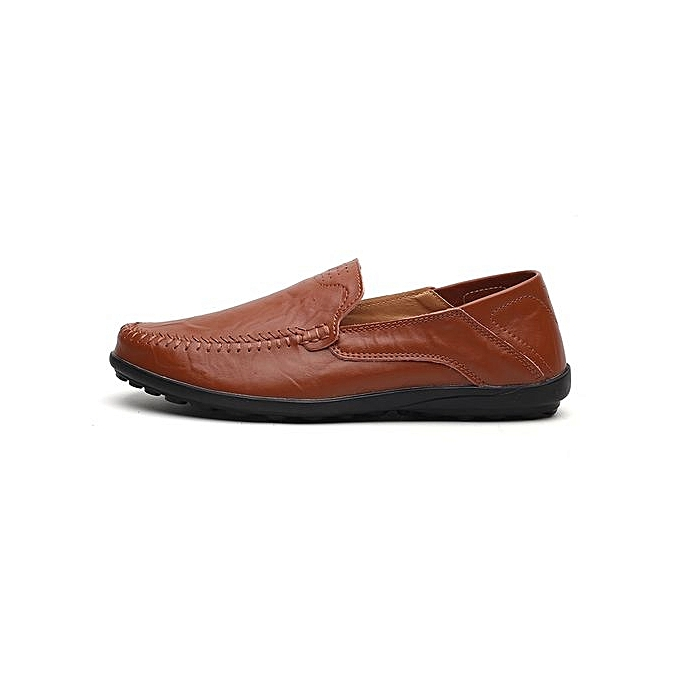 Fashion Knan  's Suede Slip Leather Loafers Classic Slip Suede Ons Buckle Casual Boat Shoes à prix pas cher  | Jumia Maroc 755d57