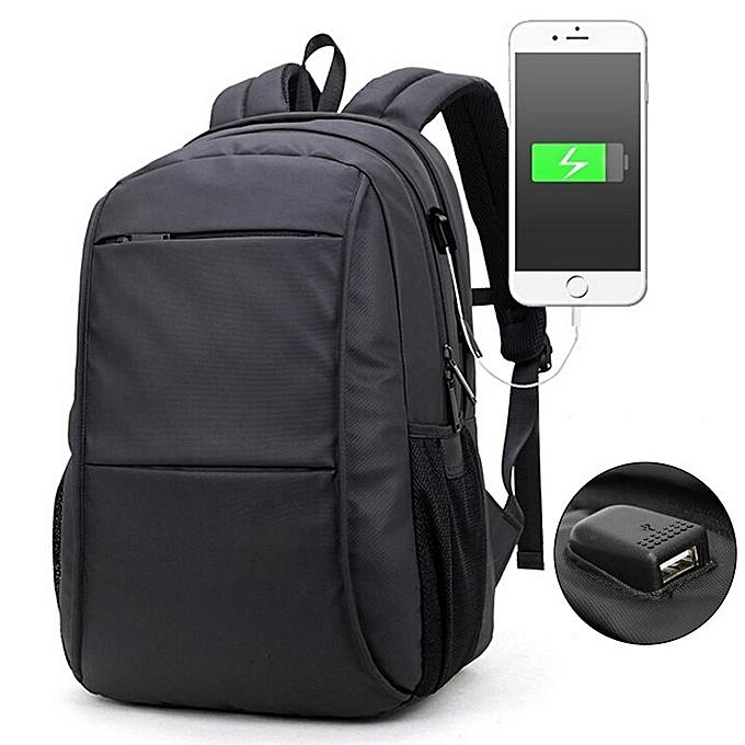 Fashion 15.6  Laptop USB Charge Computer Bag Waterproof 15 17 Inch Men Notebook Backpack à prix pas cher