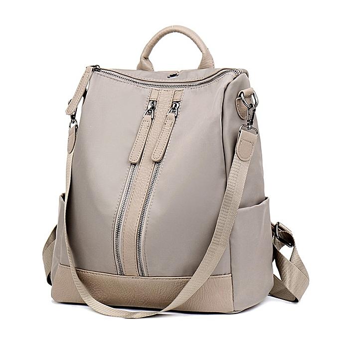 Fashion Singedan Shop Wohommes Nylon Solid Couleur Double Zipper College Style Travel Backpack Packet Bag à prix pas cher
