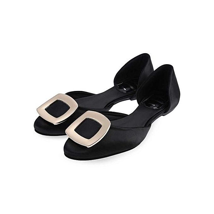 Fashion Stylish Square Square Square Buckle Round Toe   Flat Shoes à prix pas cher  | Jumia Maroc e6264d