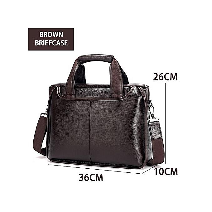 Other 2018 nouveau mode Pu male commercial briefcase   cuir vintage hommes messenger sac Décontracté grand Taille Affaires sac(marron) à prix pas cher