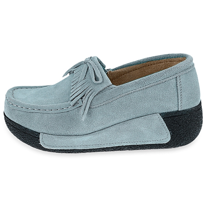 Générique   Comfortable Wedge Shoes-GREY Shoes-GREY Wedge BLUE à prix pas cher  | Jumia Maroc 6181e4