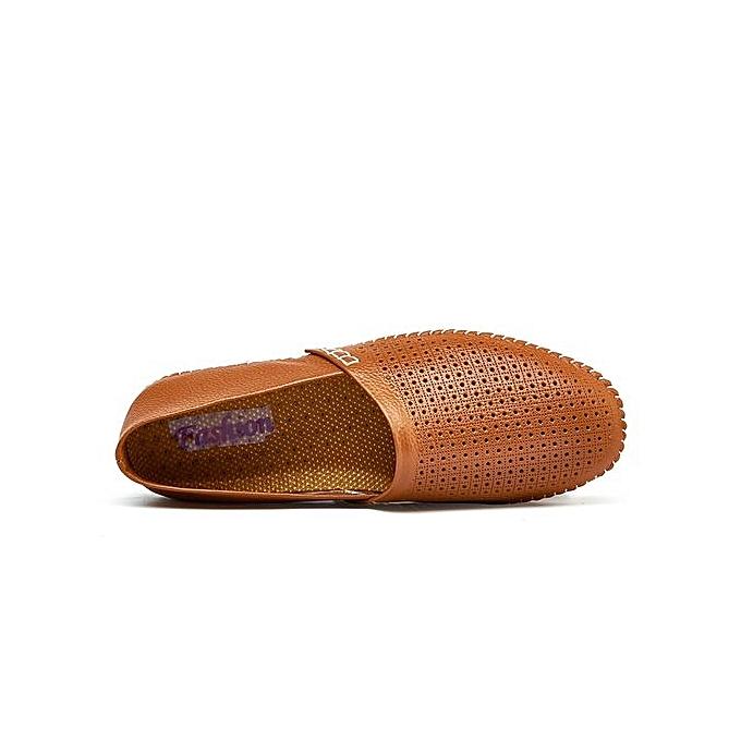 HT  's Soft Cut-Out Cow Cow Cow Leather Loafer Flats Comfy Driving Shoes à prix pas cher    Jumia Maroc ac9d02