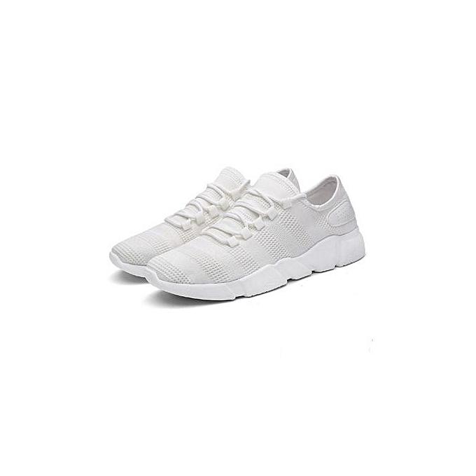 Fashion New Trend Men's chaussures Summer Sports chaussures Men's Breathable Mesh Layer chaussures-blanc à prix pas cher    Jumia Maroc