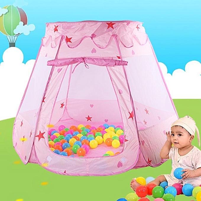 UNIVERSAL Indoor de plein air Princess Castle Play House Enfants Play Tent Ocean Ball Pool + Balls 110X82cm à prix pas cher