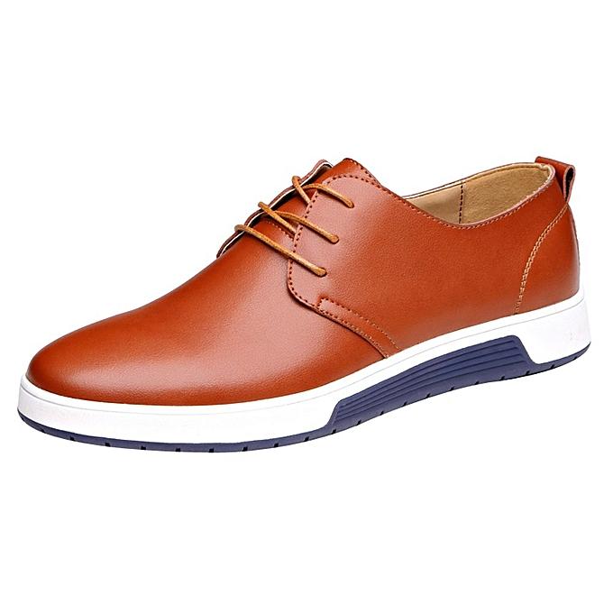 mode jiuhap store mode Hommes Décontracté cuir Flat chaussures chaussures Affaires chaussures mariage chaussures-jaune à prix pas cher