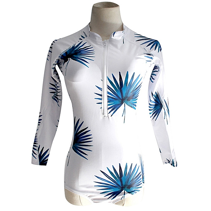 Autre nouveau Padded maillot de bain Rash Guard manche longues Sleeveless maillot de bain Rashguard Printed Surf Wear Bodysuit Bathing Suit(Style 1) à prix pas cher