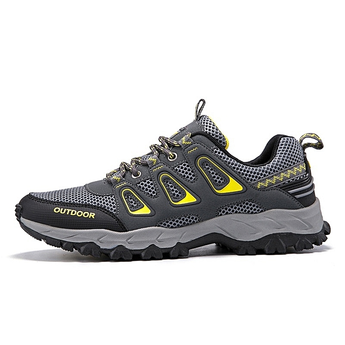 Other New Stylish Men's Outdoor Breathable Hiking chaussures Mesh Mountaineering chaussures -Dark gris à prix pas cher