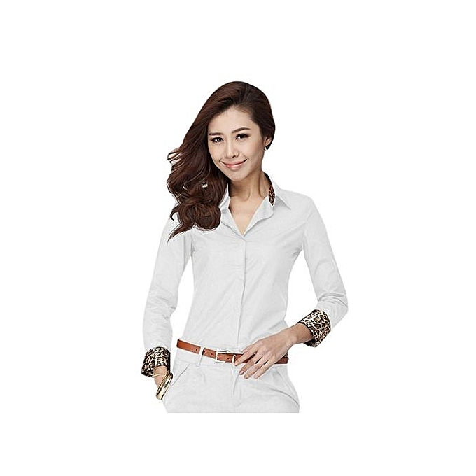 Sunweb V-neck Long Sleeve Shirt Blouse (blanc) à prix pas cher