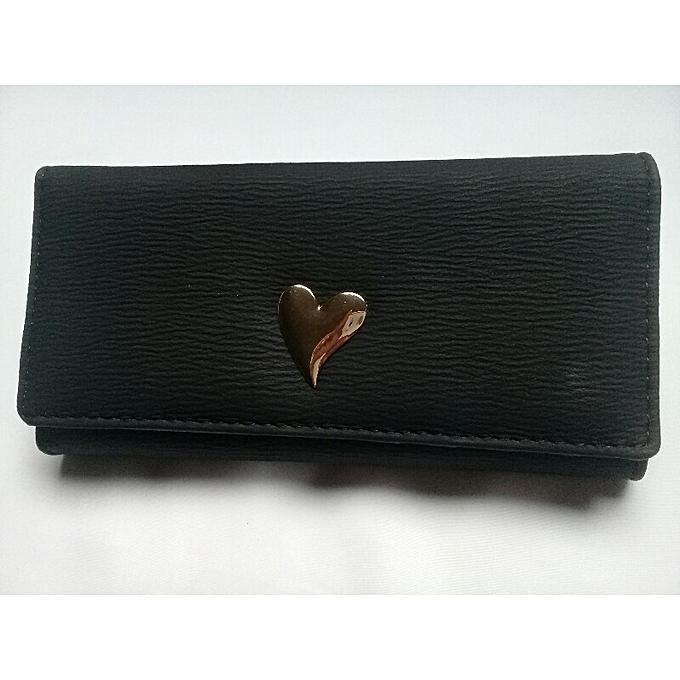 2f48f1c4fc26 Grand Portefeuille et porte monnaies noir Femme Style plusieurs pochettes  porte cartes de crédit de la