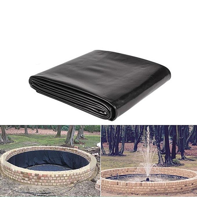 UNIVERSAL 1.5mm HDPE Composite Geomembrane Pool Landscaping Fish Pool Pond Liner Membrane-3x3ft à prix pas cher