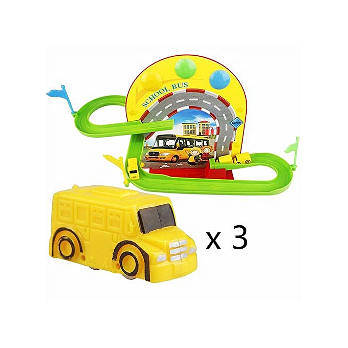 Generic DIY Tracks Bend Flex And Glow Racetrack With Glow Track Race School Bus à prix pas cher