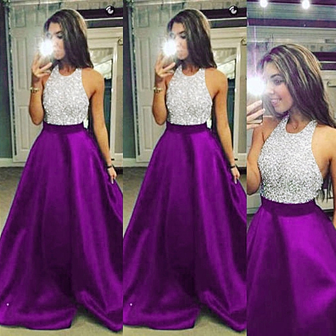 mode quanxinhshang femmes Formal Prom Party Ball Gown Sexy Evening Bridesmaid Halter Long Robees à prix pas cher