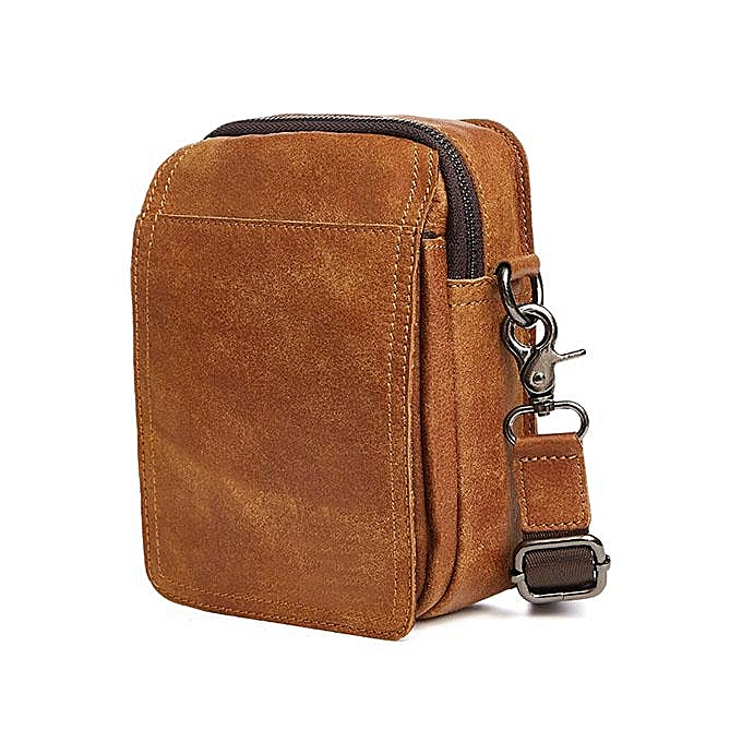 Fashion New leather hommes bag Multi-function matte leather small pockets Leisure outdoor sports wear belt phone bag à prix pas cher