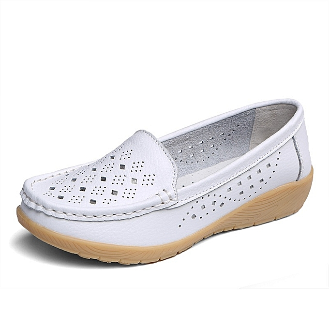 Other Stylish Summer Middle-aged femmes Casual Soft Bean chaussures Anti-skid Mother chaussures-blanc à prix pas cher    Jumia Maroc