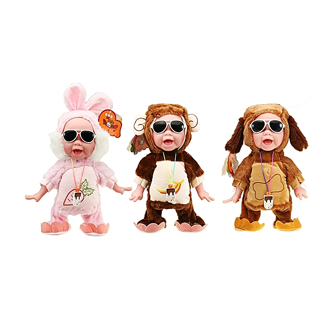 UNIVERSAL Nice Dream Toys Ice Cream Boy Reaction Laughing Crying Electronic Dancing Stuffed Doll-Coffee à prix pas cher