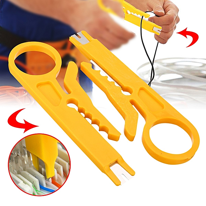 Autre 2pcs Wire Coax Coaxial Stripping Tool Universal Cable Stripper Cutter Mini jaune Network Wire Pliers For Home Garden DIY Tool à prix pas cher