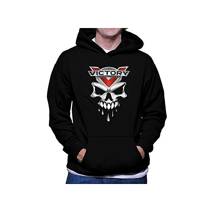 Generic Mens Victory Motorcycle & Skull Logo Hoodies Classic Tops à prix pas cher