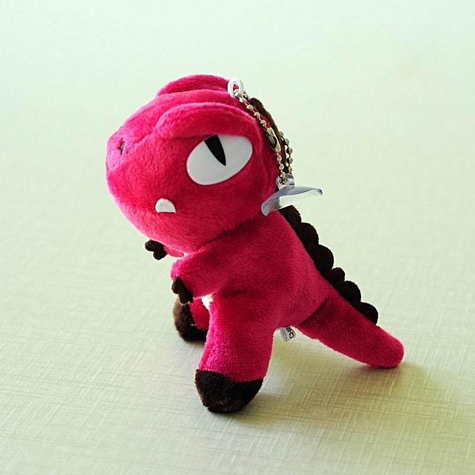 Autre Cute Peu 9cm Approx Unicorn Plush Toys for Christmas Keychaîne Unicorn Plush Doll Toy Enfants Gift petit pendentif chaîne(dinosaur rouge) à prix pas cher