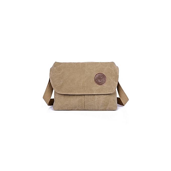 Other New Canvas Men Messenger Bags Quality Men Travel Bag Clical Male Shoulder Crossbody Bag noir 311023 CM(khaki) à prix pas cher