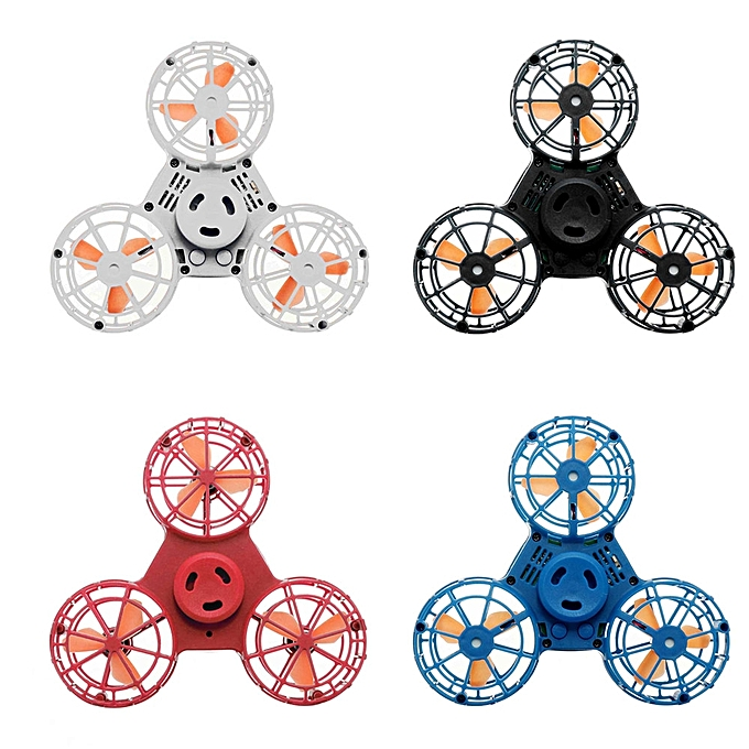 UNIVERSAL en volant Fidget Spinner Hand en volant Spinning Can Fly Away And Return From Hand Anti-Stress Toys-bleu à prix pas cher