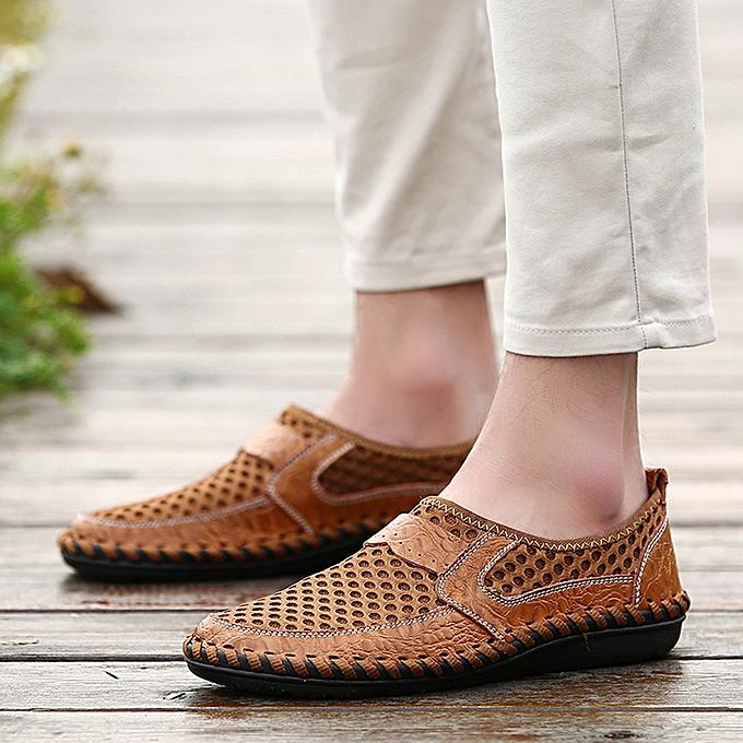 Fashion (Xiuxingzi) Men's Breathable Sports Casual chaussures Wave Slacker Mesh Pedals chaussures Peas chaussures à prix pas cher    Jumia Maroc