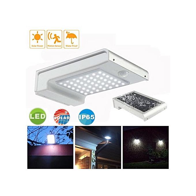 Generic Haojks-LED Solar Power Motion Sensor Outdoor Waterproof Garden Security Lamp Light à prix pas cher