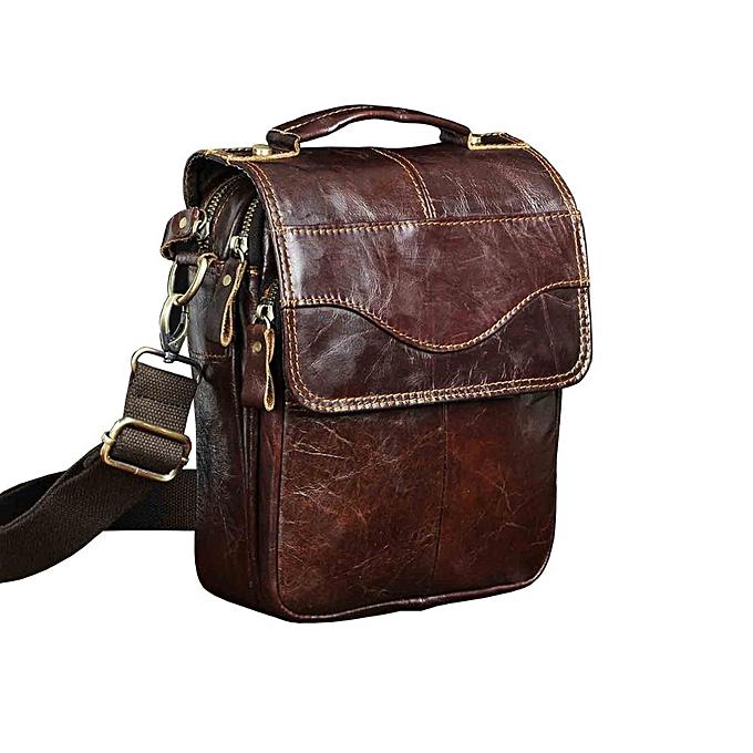 Other Leather Male Fashion Casual Tote Messenger bag Design Satchel Crossbody One Shoulder bag 8  Tablet Case For Men 144d(rouge marron) à prix pas cher