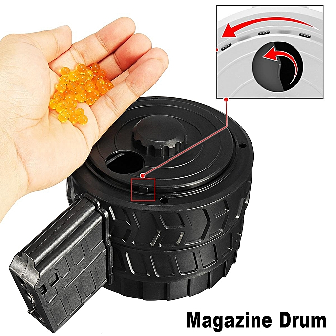UNIVERSAL STD 2th Magazine Drum Large Capacity for STD PDW JinMing8 M4A1 SCAR V2 Gel Ball Blasters Toys à prix pas cher