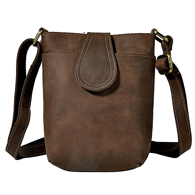 Other Crazy Horse cuir Male Design petit One Shoulder Messenger sac Cowhide mode bandoulière sac 7  Pad Satchel sac B1008 à prix pas cher