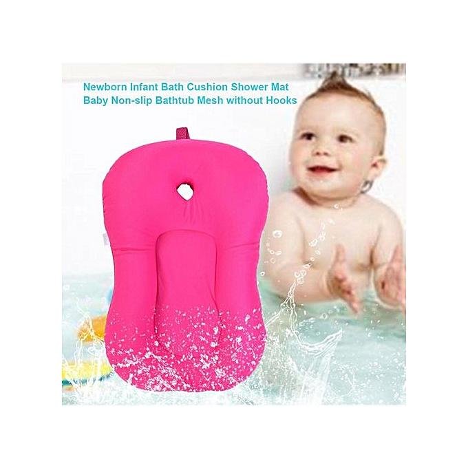 Other Newborn Infant Bath Cushion Shower Mat Baby Non-slip Bathtub Mesh Without Hooks( 1) à prix pas cher