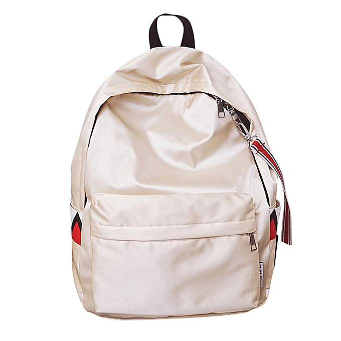 mode Tcetoctre Unisex Warterproof Anti Warter sac à dos Double Shoulder sac Zipper sac-Beige à prix pas cher