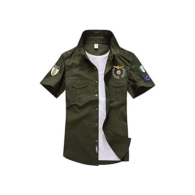 UNIVERSAL US Air Force Men's Pure Cotton Casual T-Shirt(Couleur Army vert) à prix pas cher