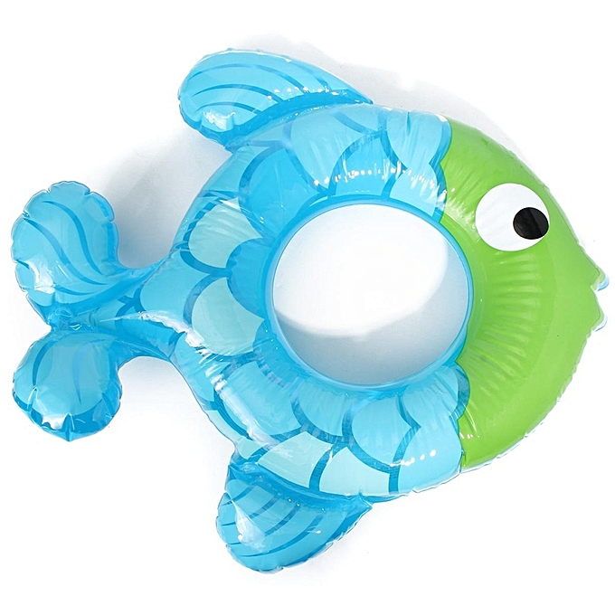 UNIVERSAL Fish-shaped Inflatable   Swimming sacue Swim Bath Pool Float Toy bleu violet bleu à prix pas cher