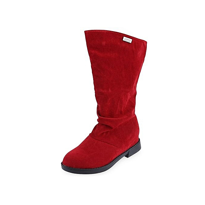 Générique Graceful Graceful Générique   High Leg Boots Solid Color Flat Sole Shoes-RED à prix pas cher  | Jumia Maroc 60cde6