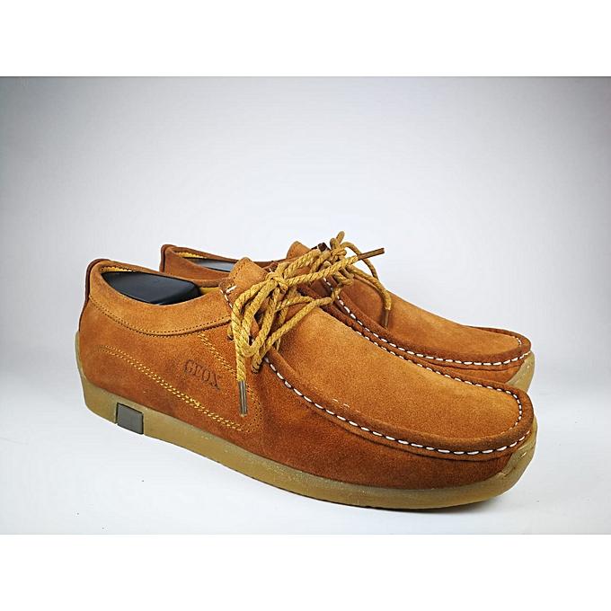 0e2e1987f7f2 Geox Chaussures bateau 100% Daim naturel -marron à prix pas cher ...