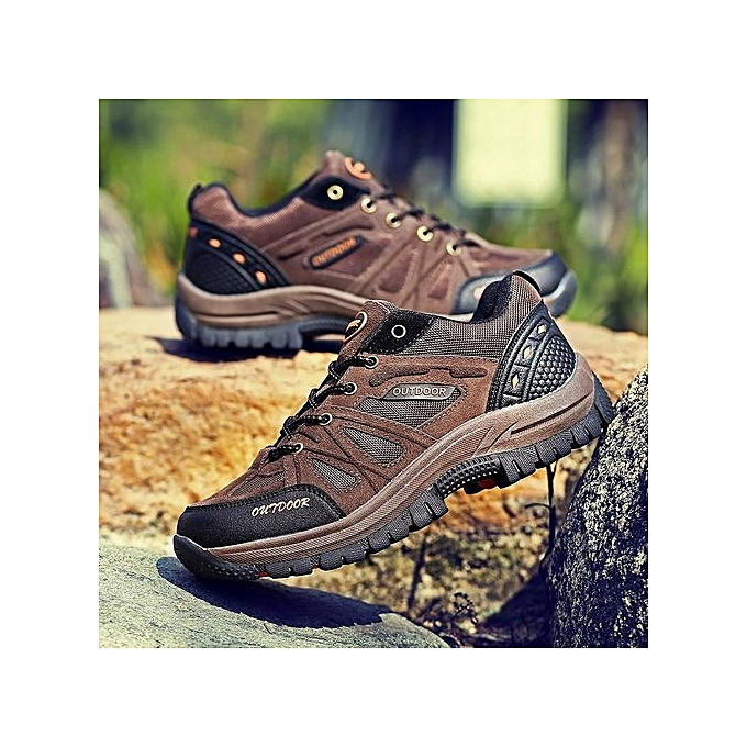 mode grand Taille 48 Hommes's Hiking chaussuresMountain de plein air Tourism Hunting Sports chaussures Hiking paniers-broen à prix pas cher