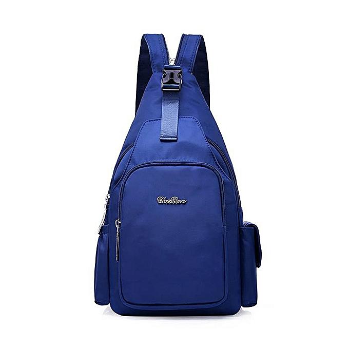 mode femmes Multi-purpose Nylon sac à dos Buckle Chest sac Shoulder sac bandoulière sac à prix pas cher