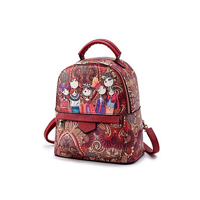 mode femmes sac à dos mode Print PU cuir School sacs For Teenager Girls Mini sac à doss Students Shoulder Schoolsacs voyage sacs à prix pas cher