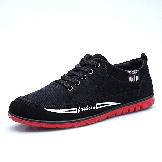 Other New Stylish Men's Summer New Canvas Board Korean Casual Sports chaussures-noir à prix pas cher