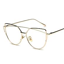 db1fa01fa7 Women Metal Frame Non-prescription Eyeglasses Eyewear Frame(Gold)