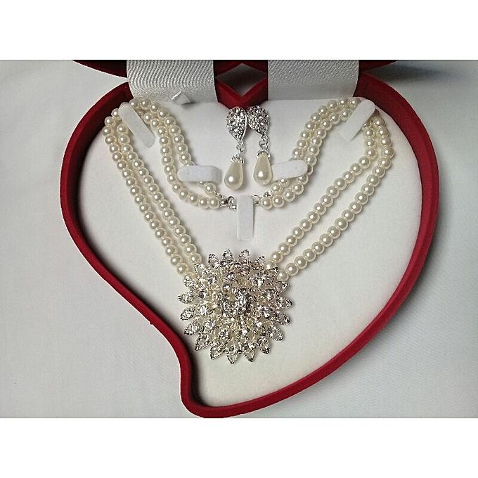 22cb015e013 Mon style Parrure collier boucles d oreilles   ensemble bijoux femme ...