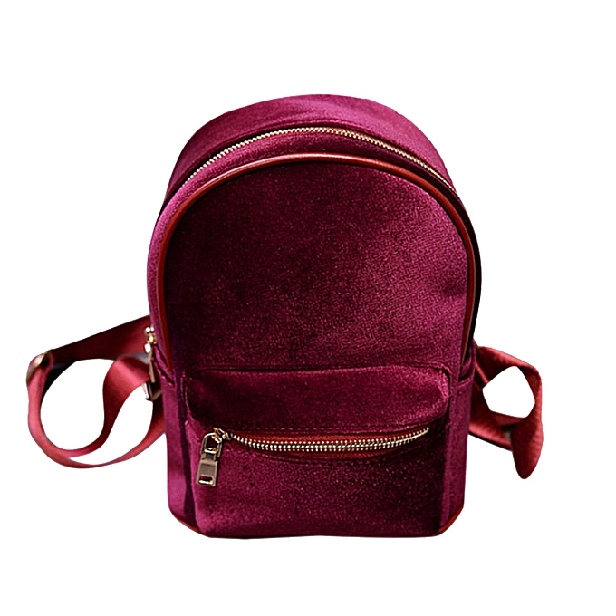 OEM Fashion Simple Backpack Soft Velvet Backpack femmes Small Travel Backpack à prix pas cher