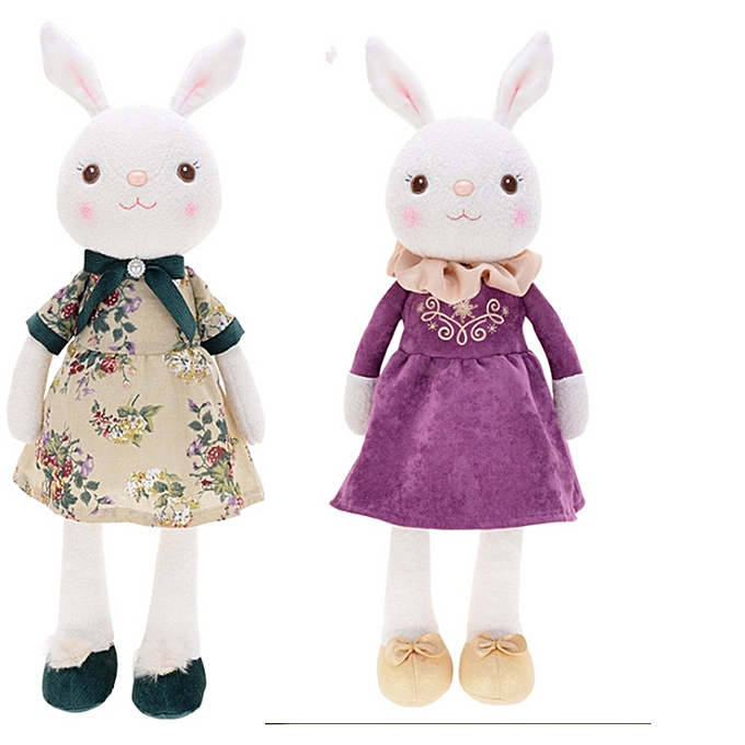 UNIVERSAL Metoo 43CM Tiramisu Rabbit Doll Stuffed Plush Enfant Toy Stuffed Animal Lamy Rabbit - à prix pas cher