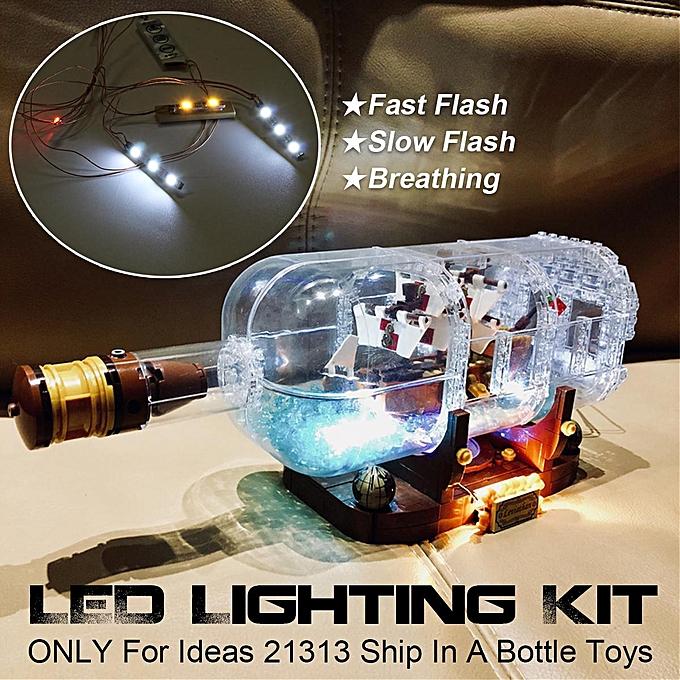 Autre Kit d'éclairage à LED SEULEHommesT pour Idées LEGO 21313 Livré dans une bouteille de briques Jouets à prix pas cher