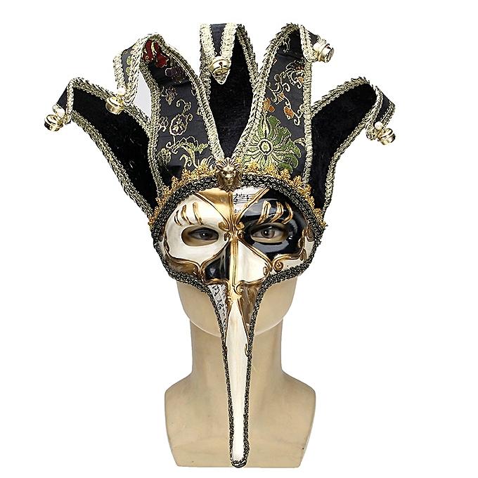 UNIVERSAL HalFaibleeen Retro Antique Half Face Masks Masquerade Party For Christmas Masks- à prix pas cher