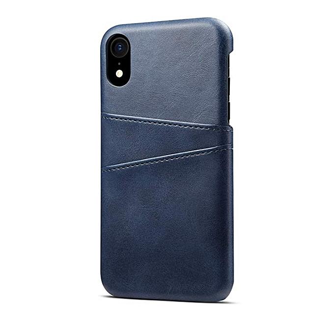 iphone X Coque de Protection Cuir Bleu Pochette Etui Portefeuille en Cuir  PU avec Porte- 59b1e200737