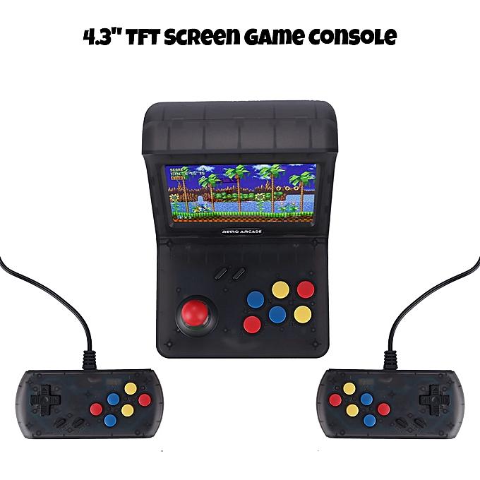 Autre Game Console 4.3  TFT Screen w  2 Controllers Portable Classic Console 3000 Built-in Games for Kids à prix pas cher