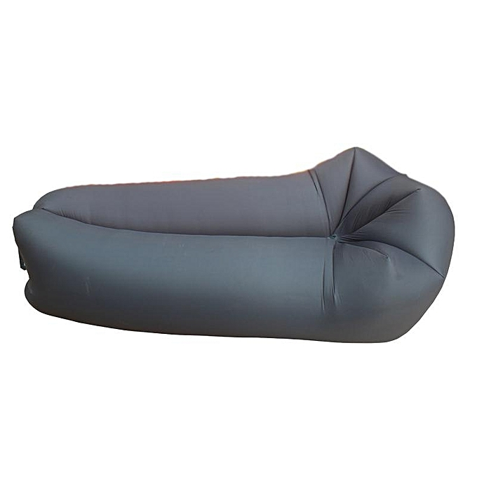 UNIVERSAL Outdoor Travel Maple-Style Lazy Sofa Fast Air Inflatable Sleeping Bed Lounger Outing Beach Lay Bag outdoor sleeping bag noir à prix pas cher
